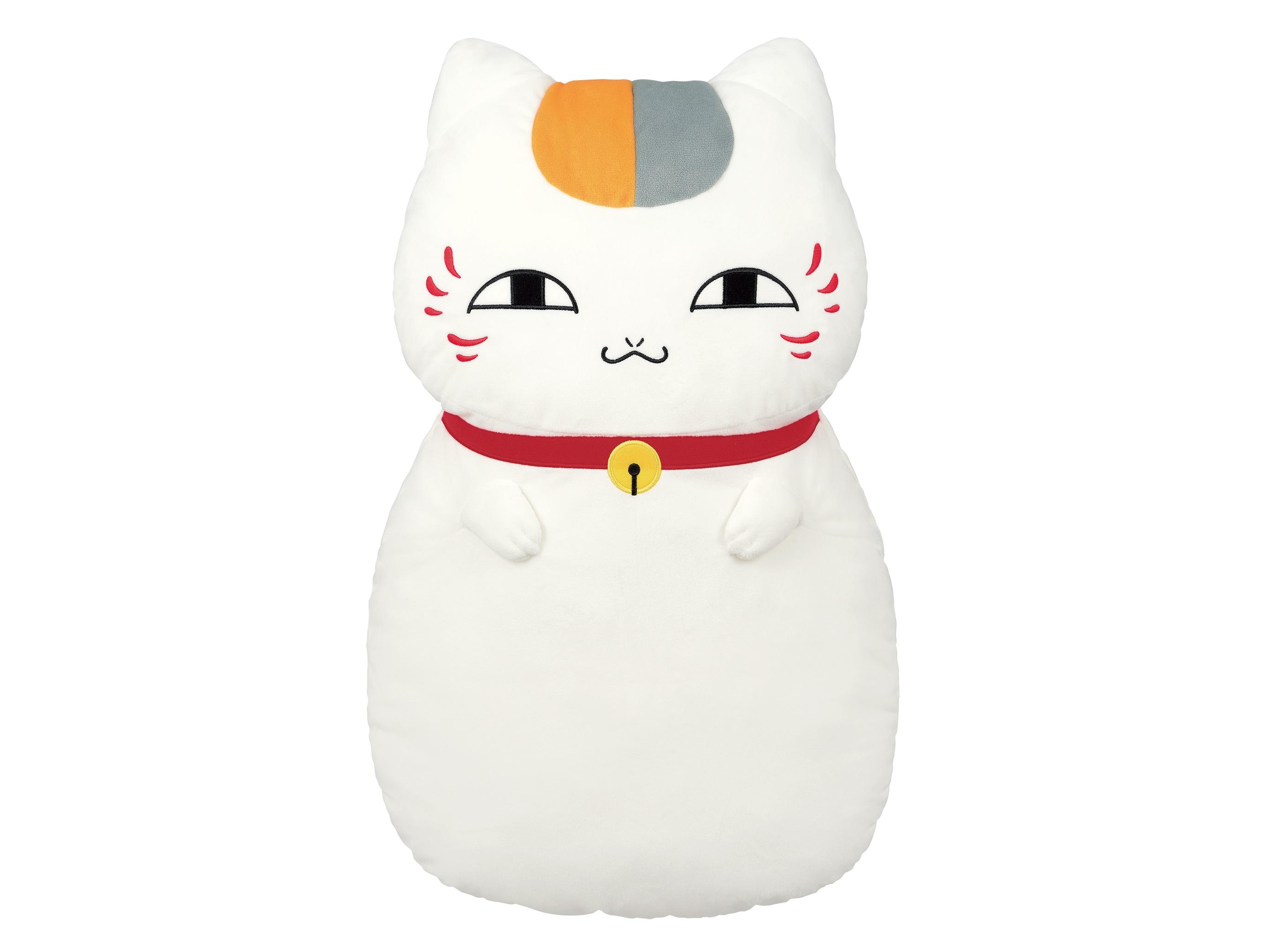 38931_夏目友人帳 めちゃでかぬいぐるみニャンコ先生クッション (1)